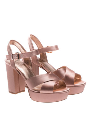 Michael Kors: sandals online - Divia satin platform sandals