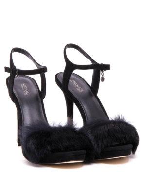 Michael Kors: sandals online - Faye lapin detailed sandals