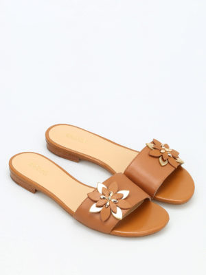 Michael Kors: sandals online - Heidi leather slippers