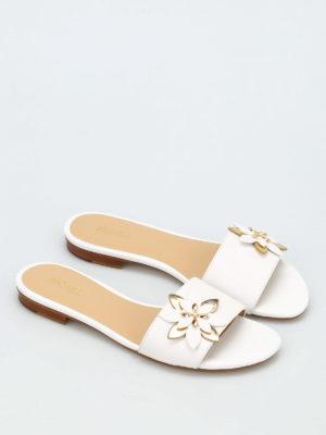 Michael Kors: sandals online - Heidi leather slippers