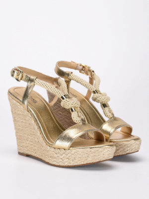 Michael Kors: sandals online - Holly knot detail wedges
