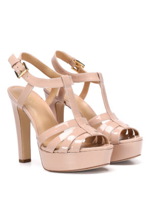 Michael Kors: sandals online - Patented leather Catalina sandals