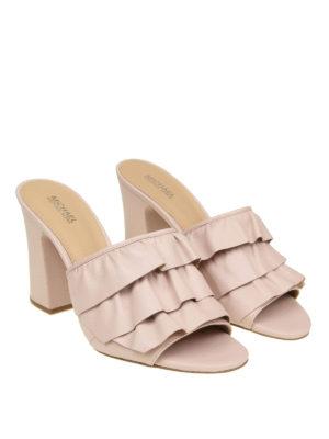 Michael Kors: sandals online - Ruched leather heeled sandals