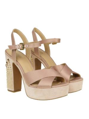 Michael Kors: sandals online - Sia studded heel satin sandals