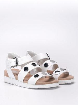 Michael Kors: sandals online - Studded leather sandals
