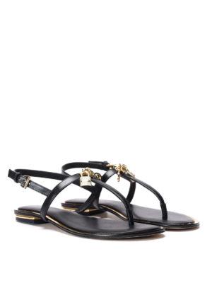 Michael Kors: sandals online - Suki leather thong sandals