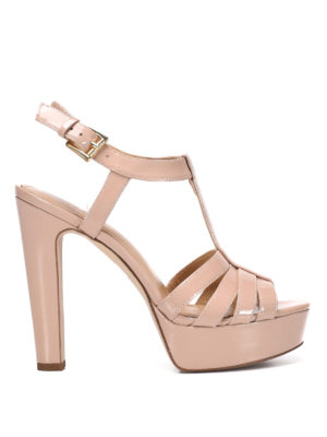 Michael Kors: sandals - Patented leather Catalina sandals