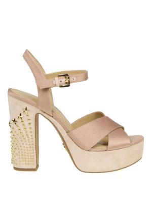 Michael Kors: sandals - Sia studded heel satin sandals