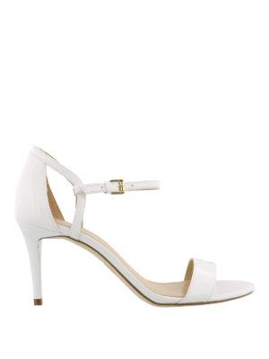 MICHAEL KORS: sandali - Sandali bianchi Simone in pelle