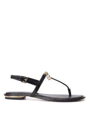 Michael Kors: sandals - Suki leather thong sandals