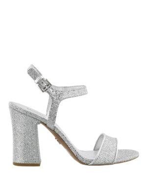 MICHAEL KORS: sandali - Sandali Tori argento con glitter