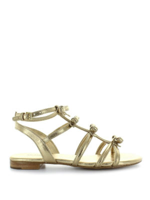 MICHAEL KORS: sandali - Sandali piatti Veronica dorati