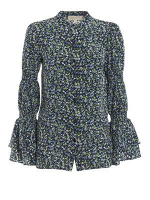 MICHAEL KORS: camicie - Camicia a fiori con polsini a campana