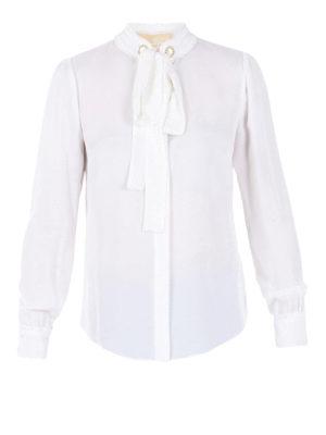 Michael Kors: shirts - Jewel grommets detailed shirt