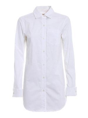 Michael Kors: shirts - Long poplin white shirt