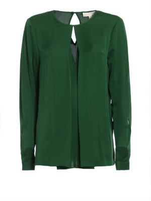 Michael Kors: shirts - Long sleeve silk blouse