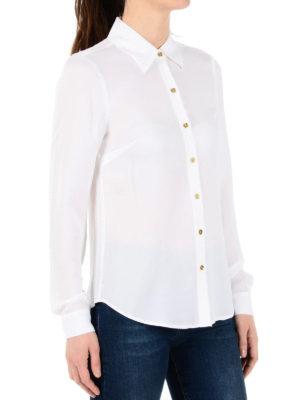 Michael Kors: shirts online - Gold-tone buttons silk shirt
