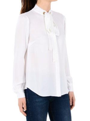 Michael Kors: shirts online - Jewel grommets detailed shirt