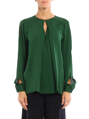 Michael Kors: shirts online - Long sleeve silk blouse