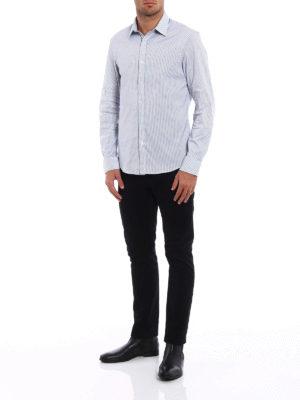 Michael Kors: shirts online - Patterned super stretch shirt