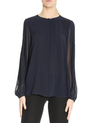 Michael Kors: shirts online - Pleated chiffon shirt