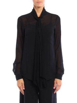 Michael Kors: shirts online - Pleated self-tie detailed shirt