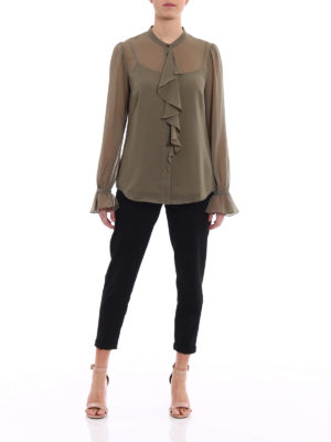 Michael Kors: shirts online - Ruffled georgette shirt