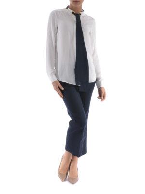 Michael Kors: shirts online - Self-tie silk shirt