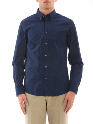 Michael Kors: shirts online - Slim fit stretch patterned shirt