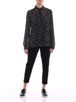 Michael Kors: shirts online - Star patterned georgette shirt