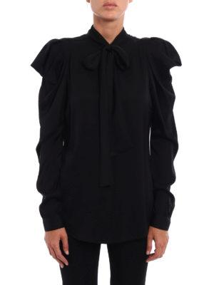 Michael Kors: shirts online - Stretch silk bow shirt