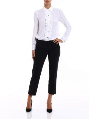 Michael Kors: shirts online - White silk ruched shirt