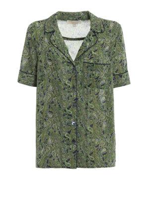 MICHAEL KORS: camicie - Camicia a motivo Paisley stile pigiama