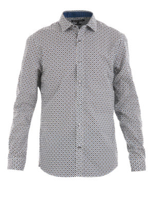Michael Kors: shirts - Patterned cotton shirt