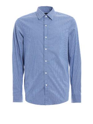 Michael Kors: shirts - Patterned stretch cotton shirt