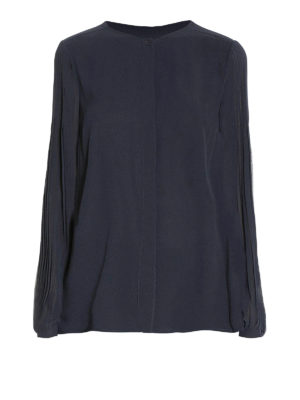 Michael Kors: shirts - Pleated chiffon shirt
