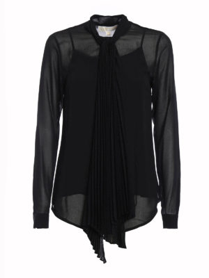 Michael Kors: shirts - Pleated self-tie detailed shirt