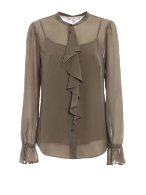 Michael Kors: shirts - Ruffled georgette shirt