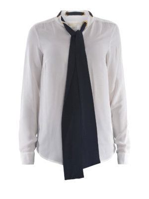 Michael Kors: shirts - Self-tie silk shirt