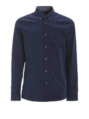 Michael Kors: shirts - Slim fit stretch patterned shirt