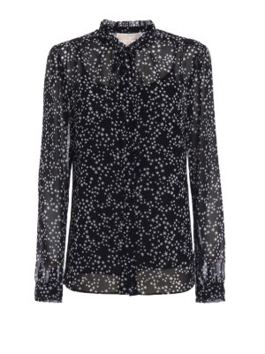 Michael Kors: shirts - Star patterned georgette shirt