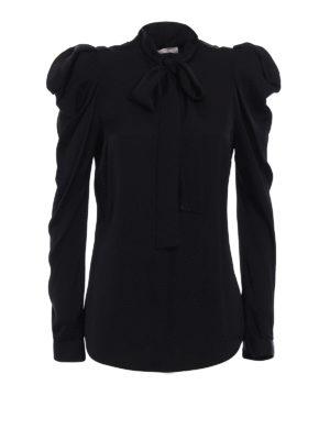 Michael Kors: shirts - Stretch silk bow shirt