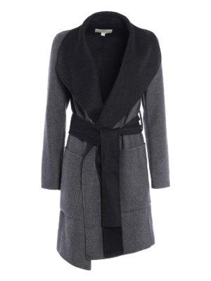 Michael Kors: short coats - Double wool reversible wrap coat