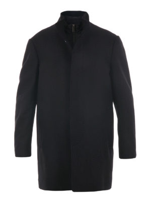 Michael Kors: short coats - Melton wool car coat