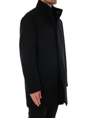 Michael Kors: short coats online - Melton wool car coat