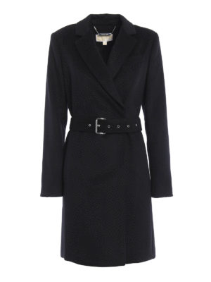 Michael Kors: short coats - Wool blend double-breasted coat