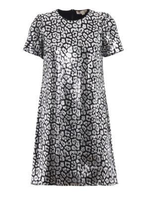 Michael Kors: short dresses - Animal print sequined dress