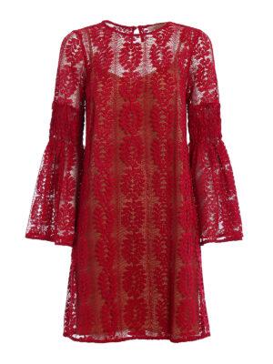 Michael Kors: short dresses - Bell sleeve see-through lace dress