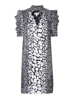 Michael Kors: short dresses - Bow detailed two-tone silk dress