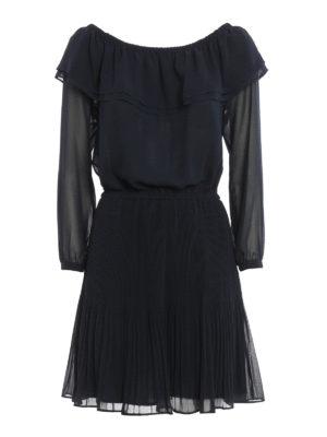 Michael Kors: short dresses - Chiffon off the shoulder dress